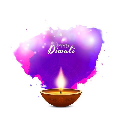 Fondo de saludo de Diwali feliz religioso abstracto vector