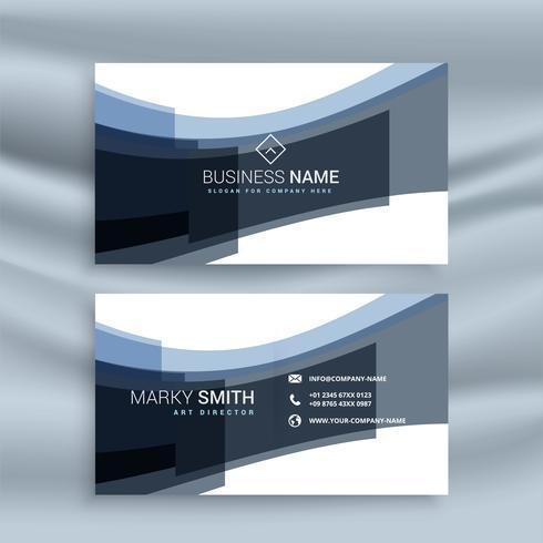 abstarct gewellte Form Visitenkarte Design