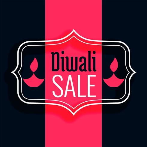 gelukkige diwali verkoop achtergrond in vlakke kleuren