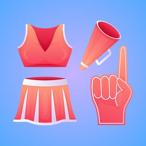 Herausragende Cheerleader-Vektoren