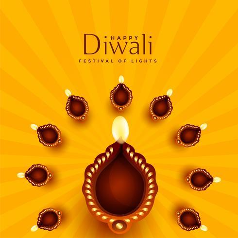 schöne Diwali Diya Dekoration Hintergrund