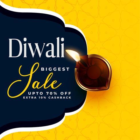 moderne Diwali-Verkaufsfahnen-Designschablone