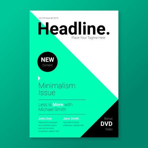 Minimalismus-stilvolle Titelseiten-Schablone vektor