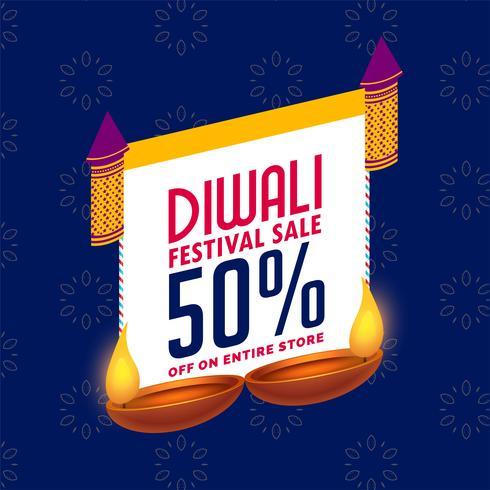 modèle de conception de bannière élégante vente diwali