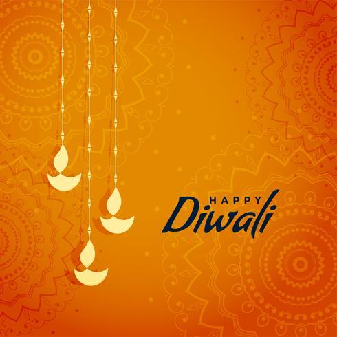 elegante diwali tradicional festival saudação design