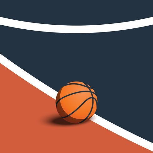 Baloncesto en la cancha ilustración vectorial vector