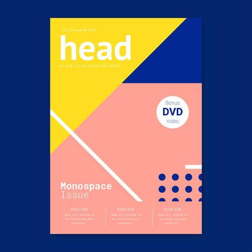 Monospace Stijlvol Tijdschrift voorbladsjabloon