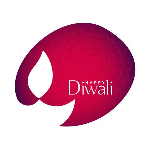 Diseño de etiqueta feliz diwali con espacio de texto