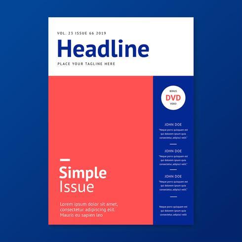 Eenvoudige stijlvolle tijdschriftdekking sjabloon