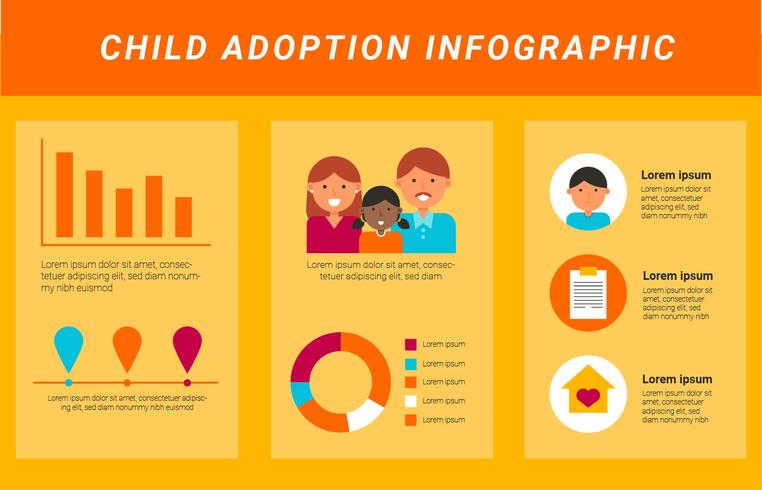 Internationaler Adoption Infografik Vektor