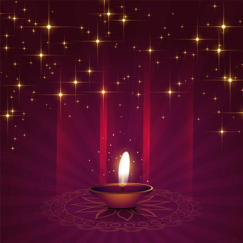 hermoso fondo de diya para el festival de diwali