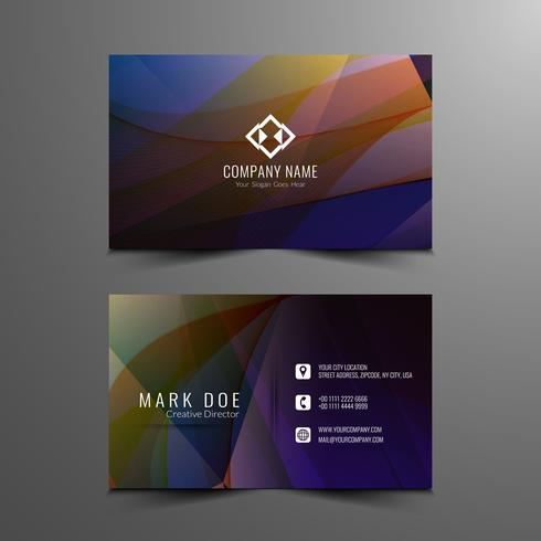 Abstract modern wavy visiting card design