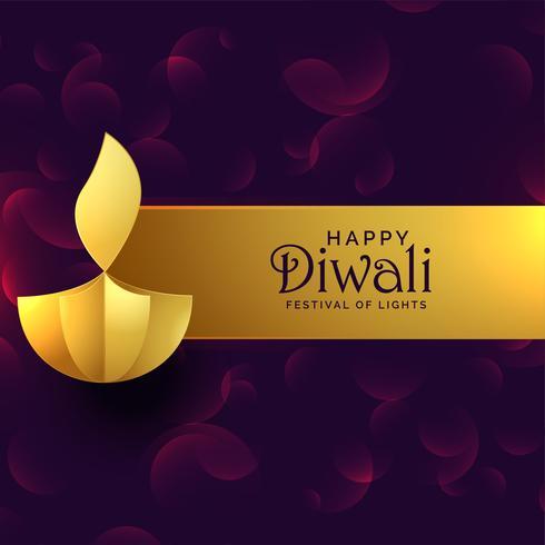 elegante diwali dourado diya fundo de design criativo