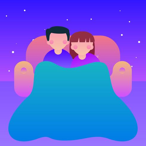 Outstanding Chill Couple On The Couch Vectors