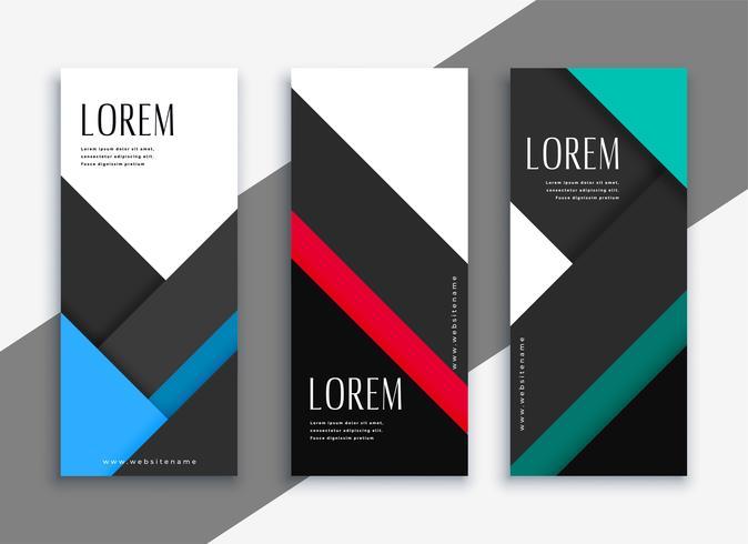 ontwerp van de zakelijke stijl geometrische banner