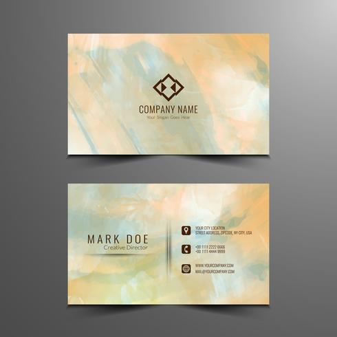Abstract modern watercolor business card template vector
