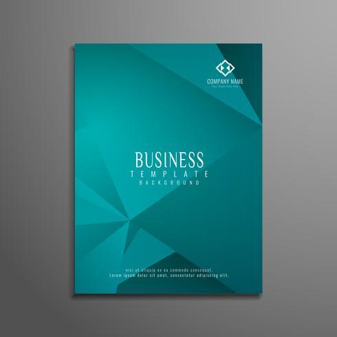 Plantilla de folleto de negocios geométrica abstracta