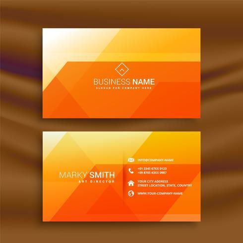 oranje abstarct visitekaartje ontwerp