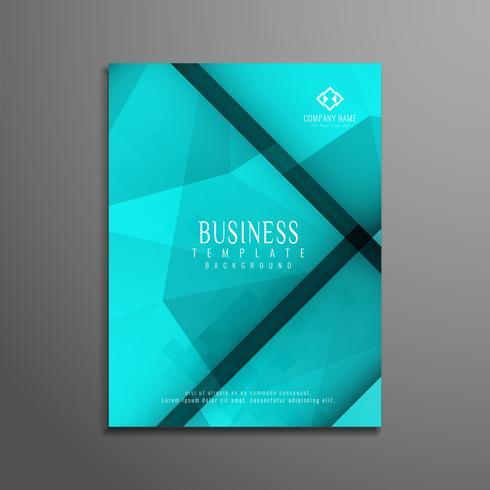 Abstrakte polygonale Geschäftsbroschürenschablone