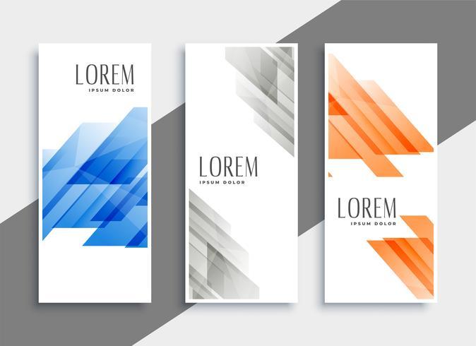 abstracte reeks geometrische banners