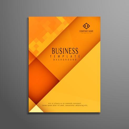Abstracte veelhoekige elegante zakelijke brochure sjabloon
