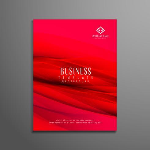 Resumen diseño de folleto de negocios ondulado vector