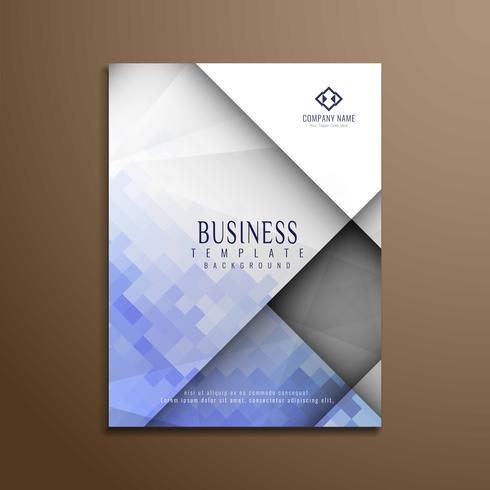 Abstracte stijlvolle veelhoekige zakelijke brochure sjabloon