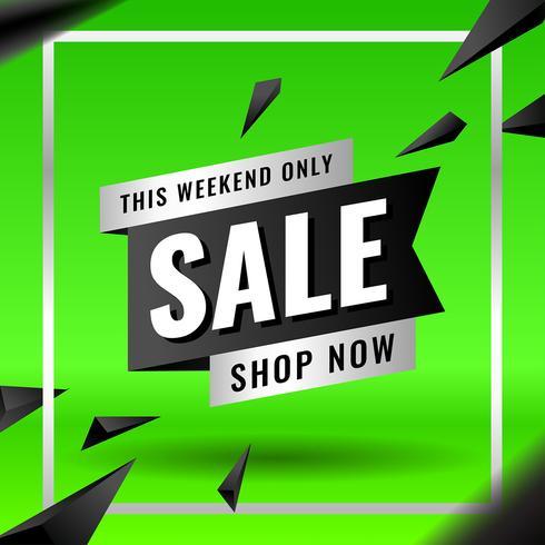 Groene verkoop bannermalplaatje voor bedrijfsmarketingelementen