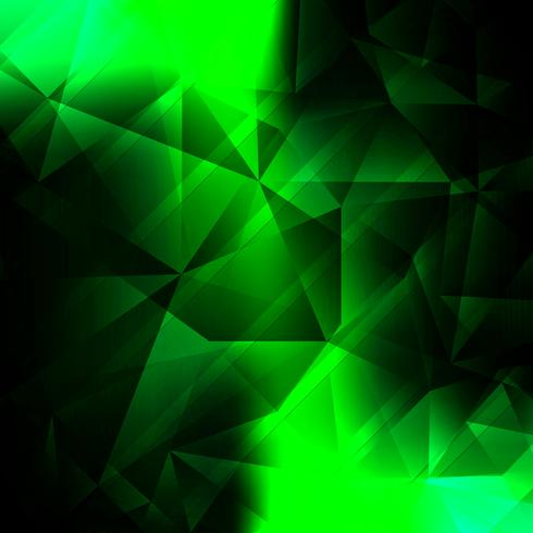 Abstract bright green polygon background