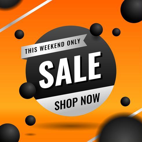Plantilla de banner de venta naranja para elementos de marketing de negocios