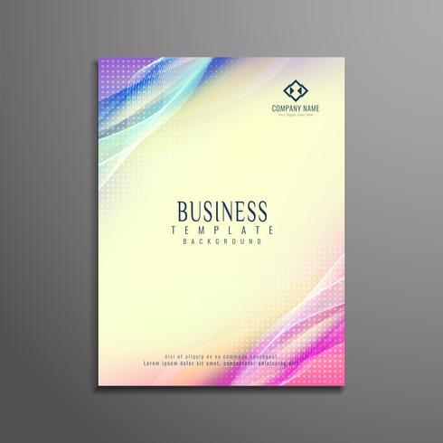 Plantilla de folleto de negocio ondulado abstracto elegante