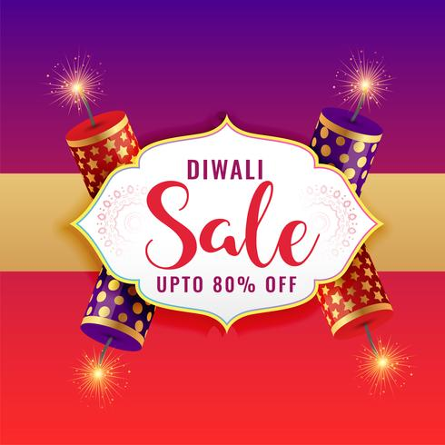 fond de vente diwali heureux avec des craquelins