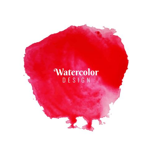 Abstract red watercolor stroke design background