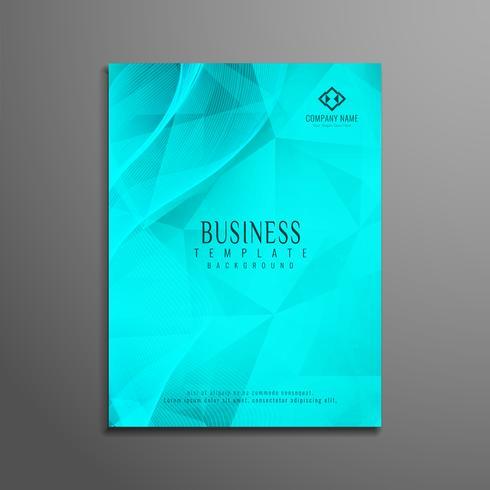 Abstrakt geometrisk företagsbroschyrmall