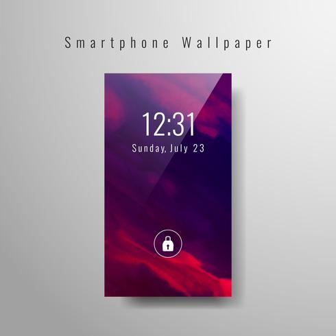 Abstraktes Smartphonetapeten-Aquarelldesign