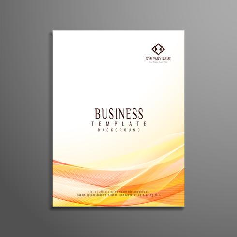 Abstracte stijlvolle golvende zakelijke brochure sjabloon