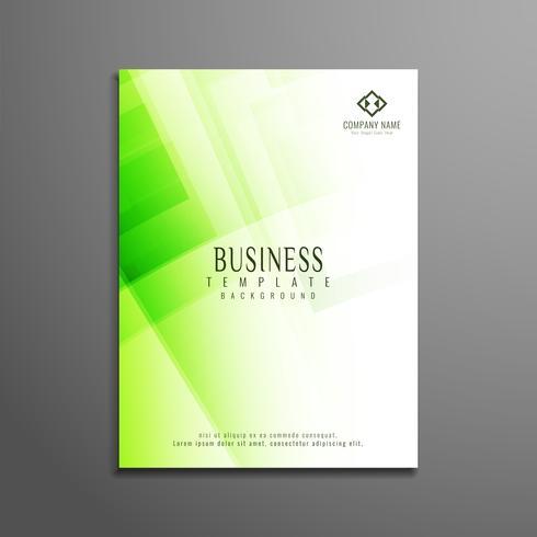 Abstracte groene veelhoekige zakelijke brochure sjabloon