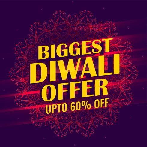 größte Diwali Verkauf Banner Template Design