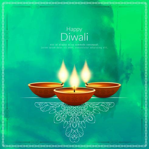 Fondo abstracto elegante feliz Diwali vector