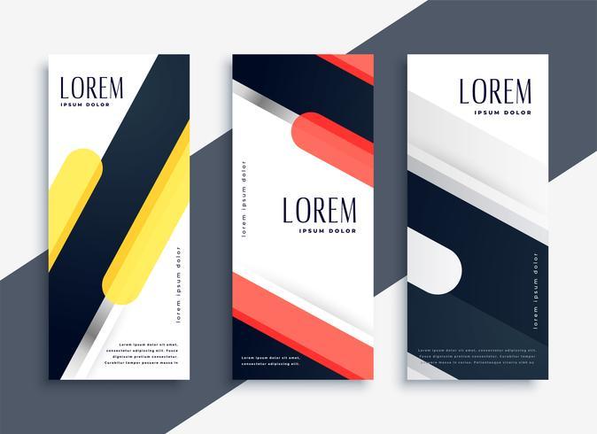 moderno conjunto abstracto de banners geométricos