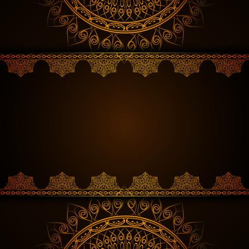Abstracte decoratieve luxe mandala achtergrond