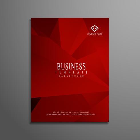 Abstracte rode zakelijke brochure sjabloon