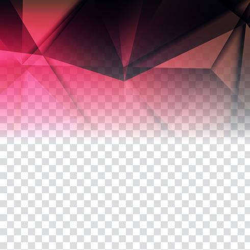 Abstracte geometrische veelhoek transparante achtergrond