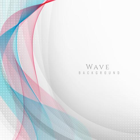 Fondo elegante abstracto de la onda vector