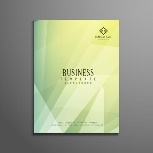 Abstract colorful polygon elegant business brochure