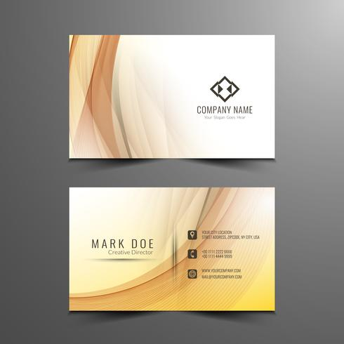 Abstract elegant wavy business card template vector