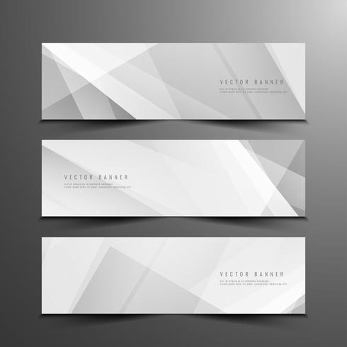 Conjunto de banners moderno geométrico abstracto