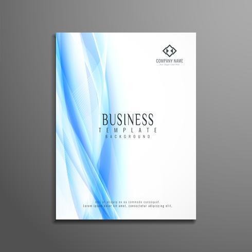 Design de brochura de negócios ondulado abstrata