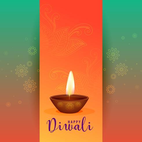belle conception de voeux joyeux festival diwali