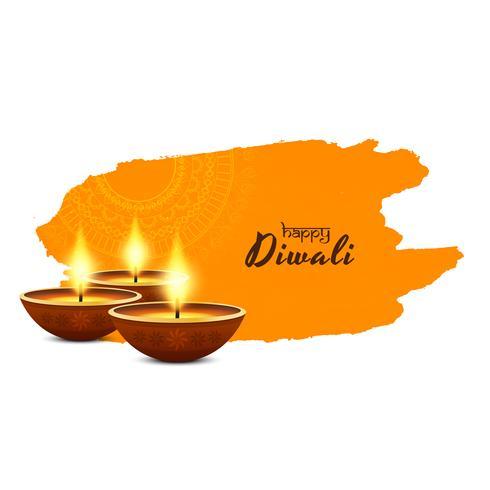 Abstracte religieuze Gelukkige Diwali-groetachtergrond